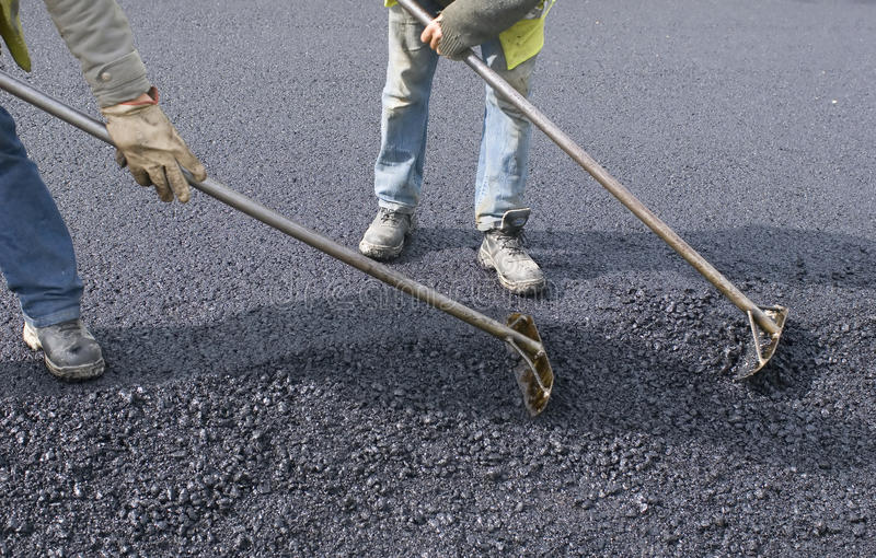 Download Peoples Labor For Paving Stock Image - Image: 9516521