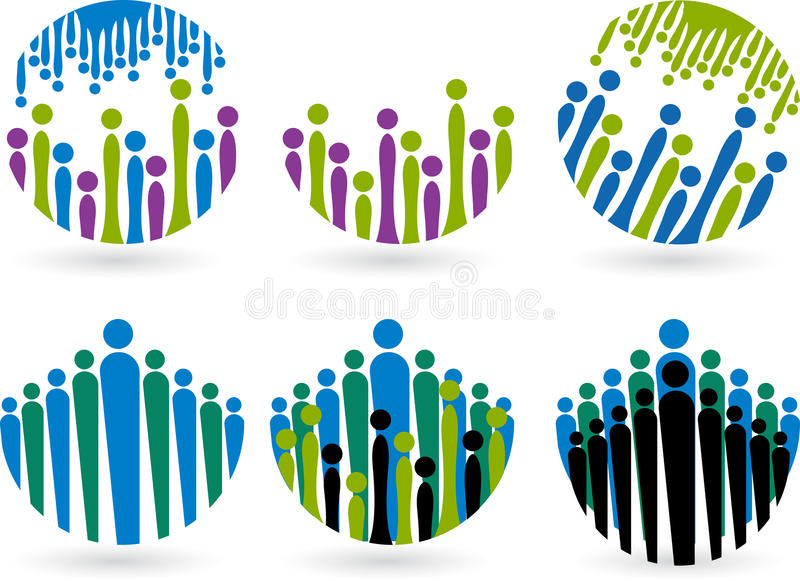 Download Peoples logos stock vector. Illustration of business - 30957830