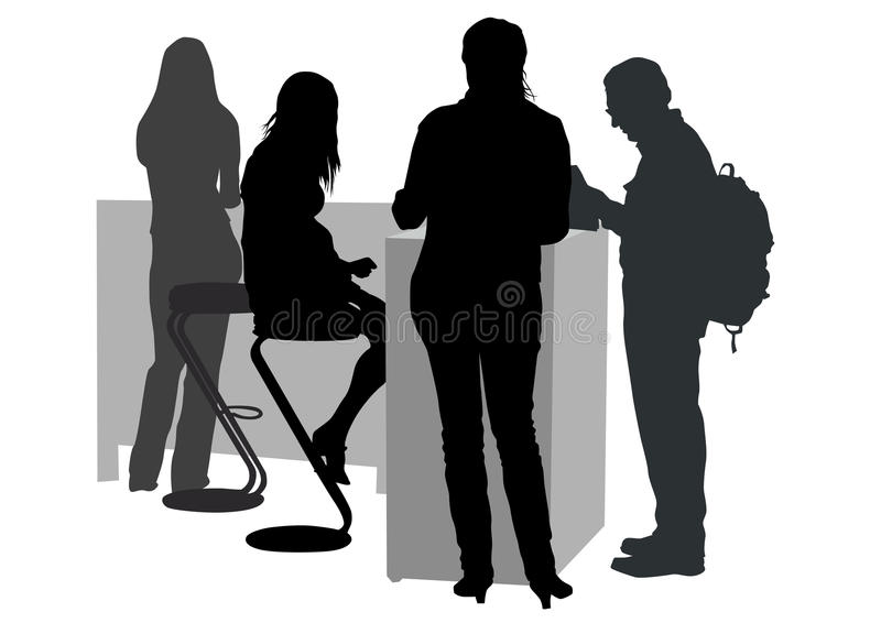Peoples in office vector illustration
