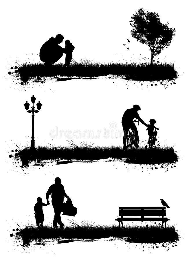 Peoples in the park stock illustration