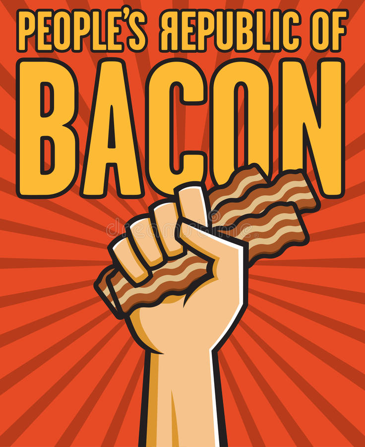 Peoples Republic of Bacon stock illustration
