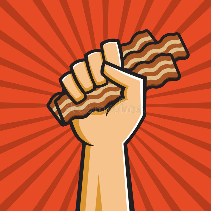 Peoples Republic of Bacon vector illustration
