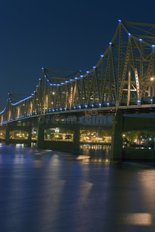 Peoria, IL - ponte fotografia de stock royalty free