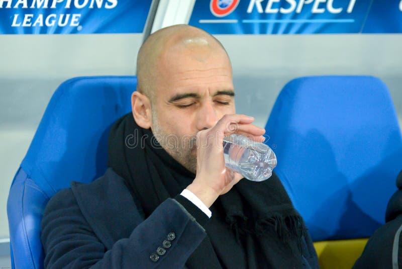 Pep Guardiola é água potável foto de stock