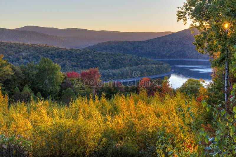 Pepacton Reservoir Autumn Twilight royalty free stock photography