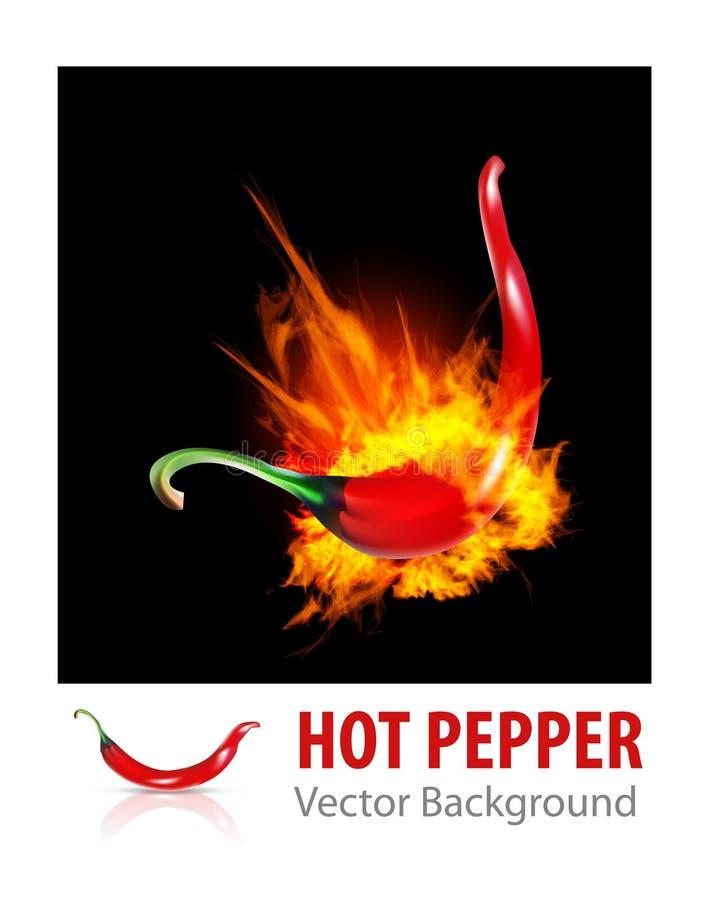 Pepe di peperoncino rosso Burning illustrazione vettoriale