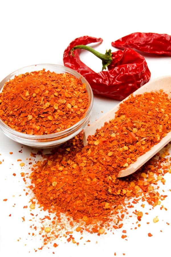 Pepe di peperoncino rosso a terra immagine stock