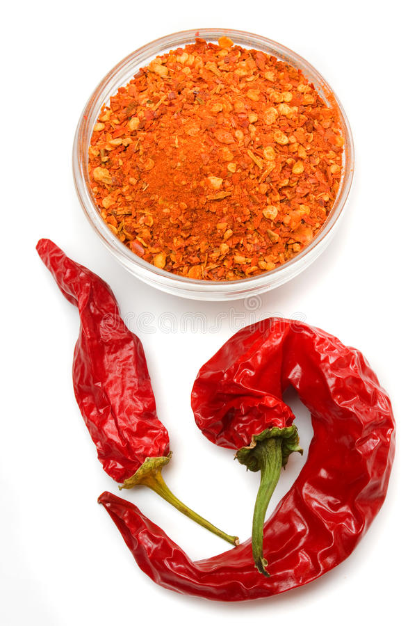 Pepe di peperoncino rosso a terra immagine stock libera da diritti