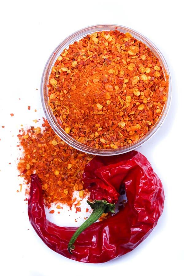 Pepe di peperoncino rosso a terra immagini stock libere da diritti