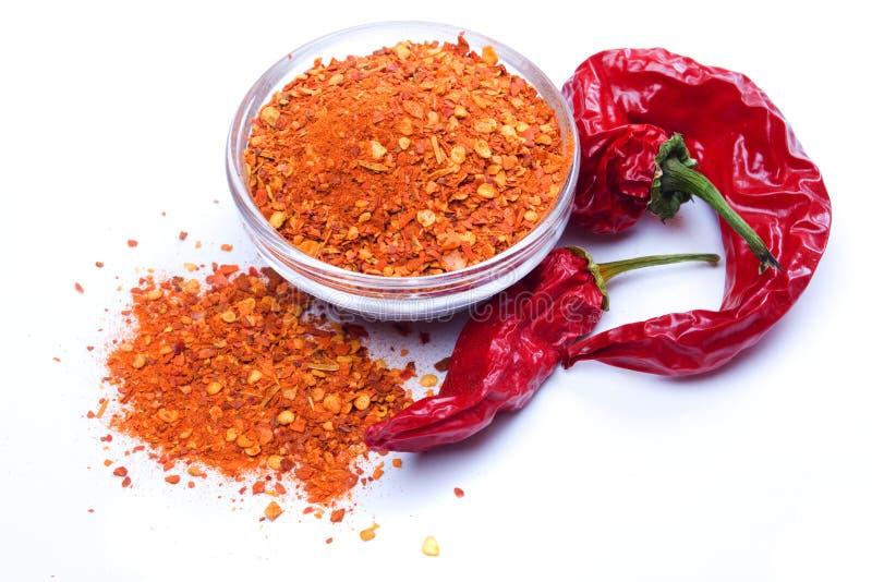 Pepe di peperoncino rosso a terra fotografia stock libera da diritti