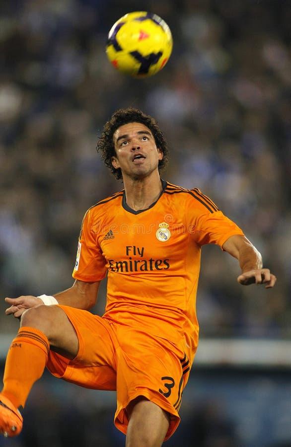 Pepe Lima del Real Madrid foto de archivo libre de regalías