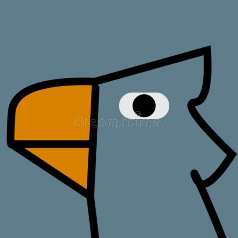 Pepe ptasia impresive twarz ilustracja wektor