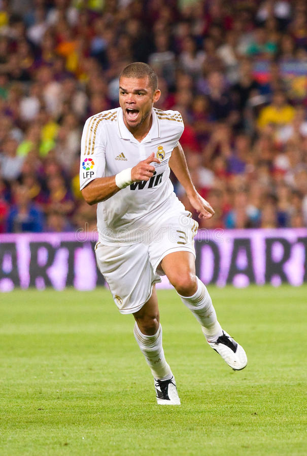Pepe of Real Madrid stock photography