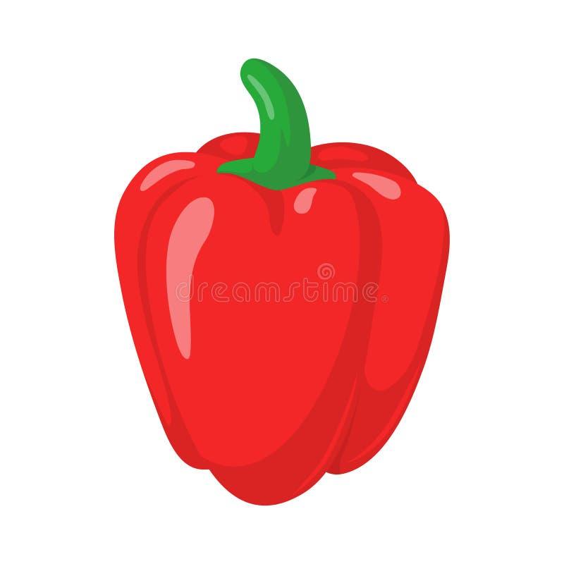 Pepe rosso della paprica illustrazione vettoriale