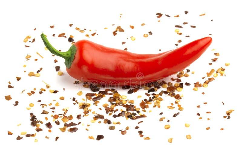 Pepe rosso di messa a terra e del peperoncino rosso fotografia stock libera da diritti
