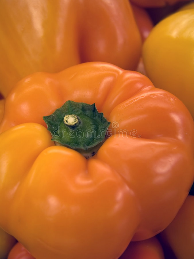 Pepe rosso fresco (macro) fotografia stock