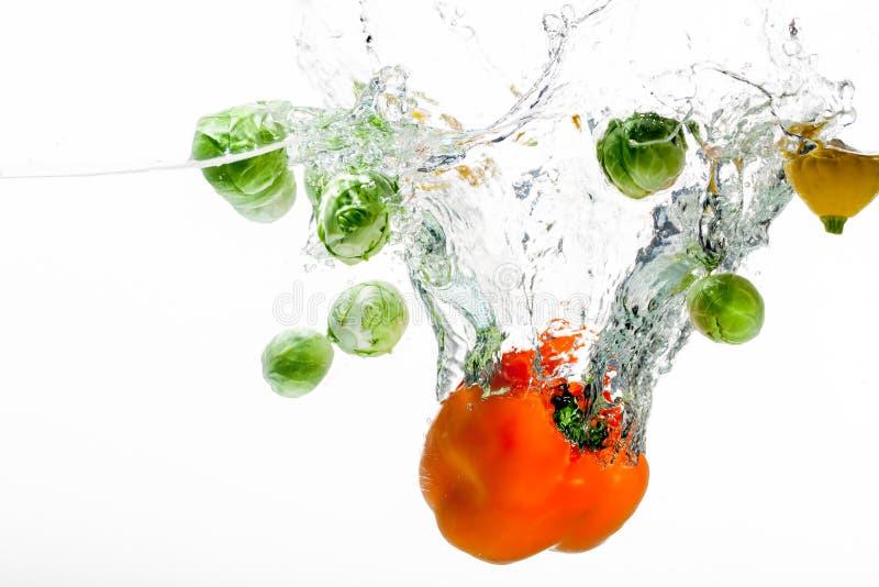 Peper e fruta alaranjados fotografia de stock royalty free