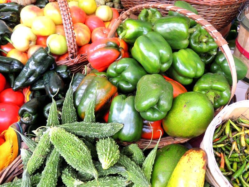 Peper en komkommers stock afbeelding