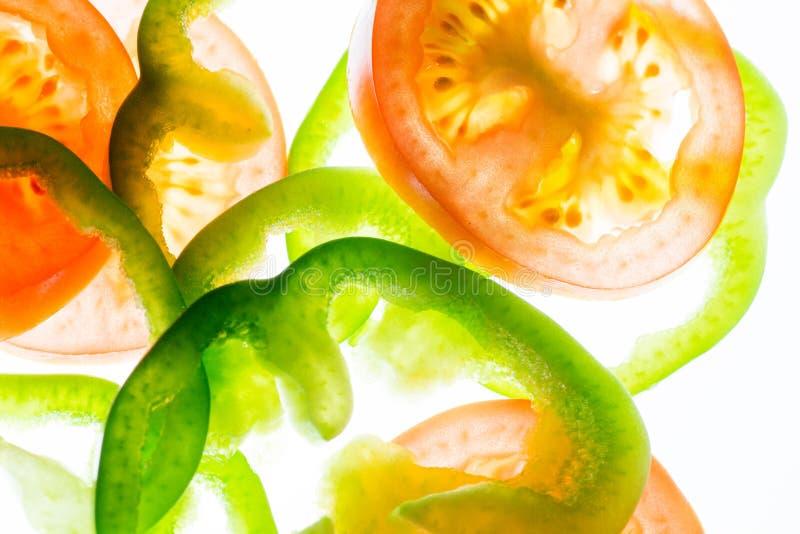 Peper en tomaat royalty-vrije stock afbeeldingen
