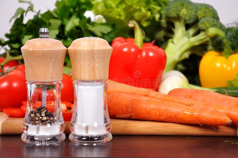 Peper en zoute molens stock fotografie