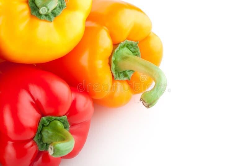 Peper, Groen Rood, Geel, Oranje, stock afbeeldingen