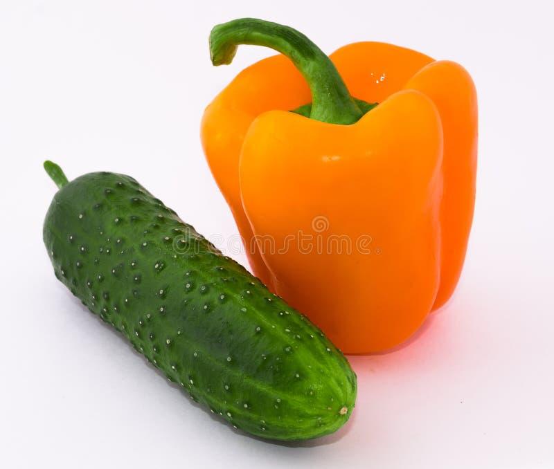 Peper, komkommer stock fotografie
