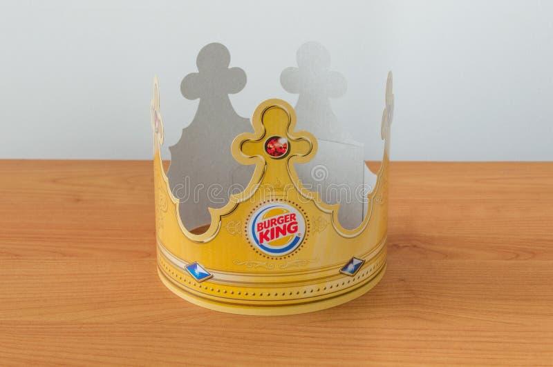 Peper krona med den Burger King logoen royaltyfri bild