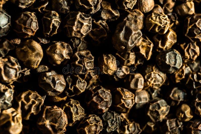 Peper, macrofoto stock foto's