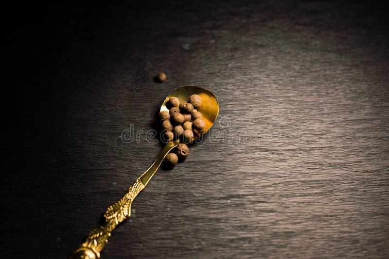 Peper op een Lepel stock foto's