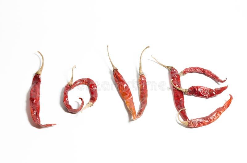Peper van de liefde de hete Spaanse peper stock foto