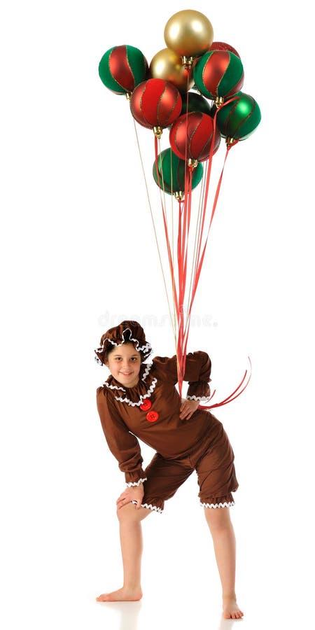 Peperkoek met Buitensporige Ballons stock foto