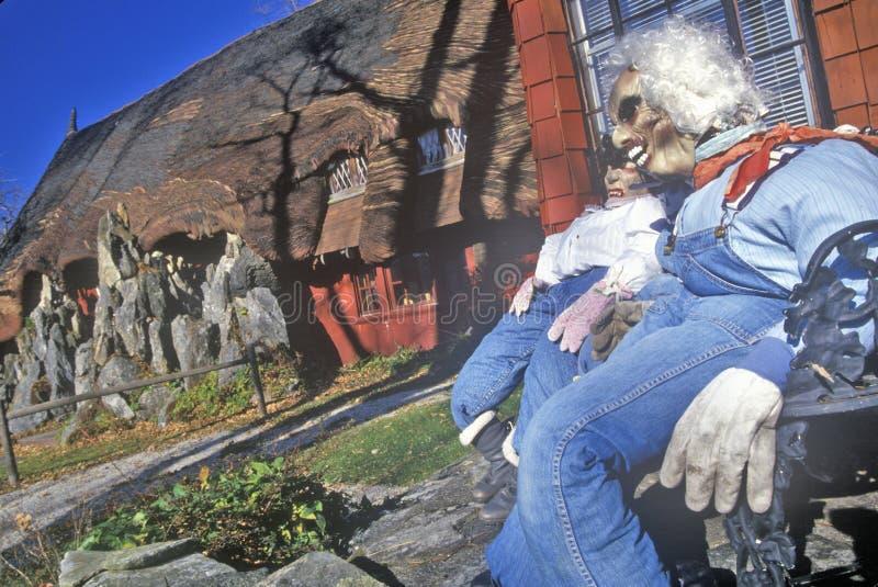 Peperkoekhuis, Tyringham, Massachusetts stock afbeelding