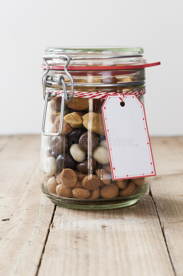 Pepernoten - Present in a Jar stock image