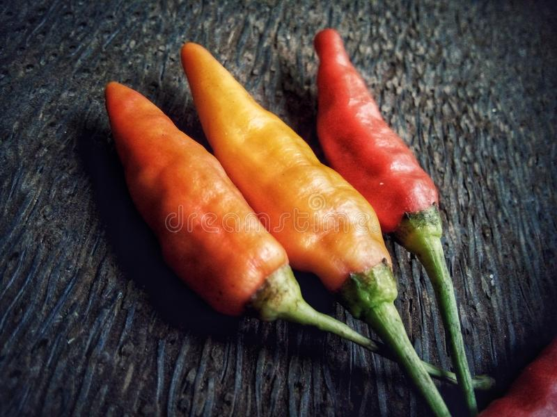 Peperoncini di cayenna fotografia stock