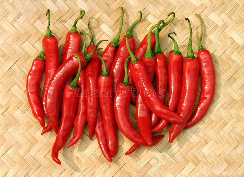 Peperoncini rossi caldi immagini stock