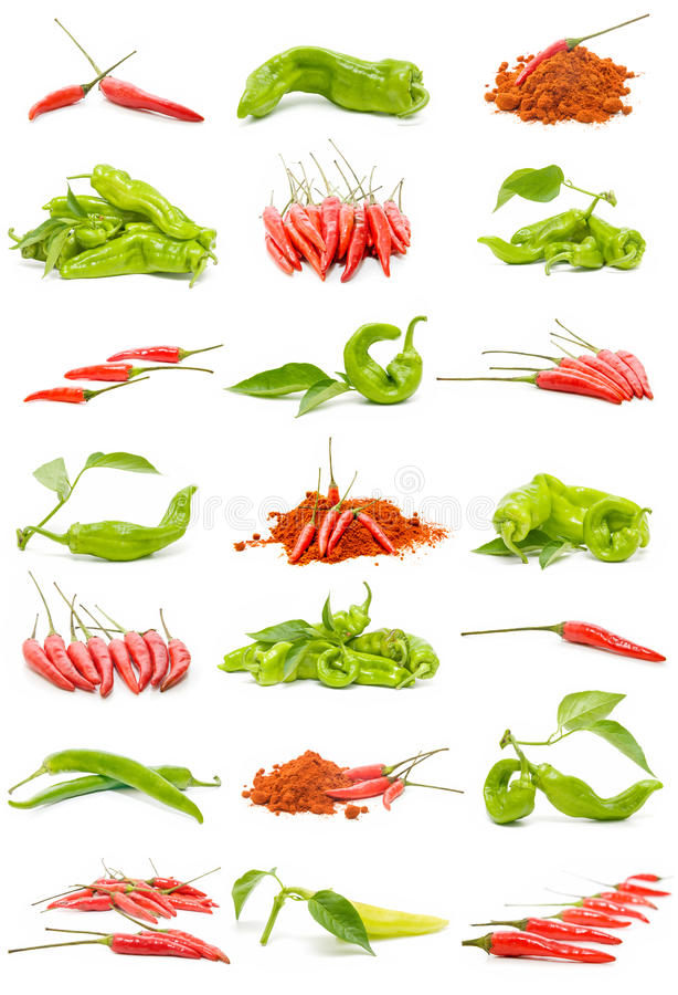 Peperoncini rossi e peperoni fotografie stock libere da diritti