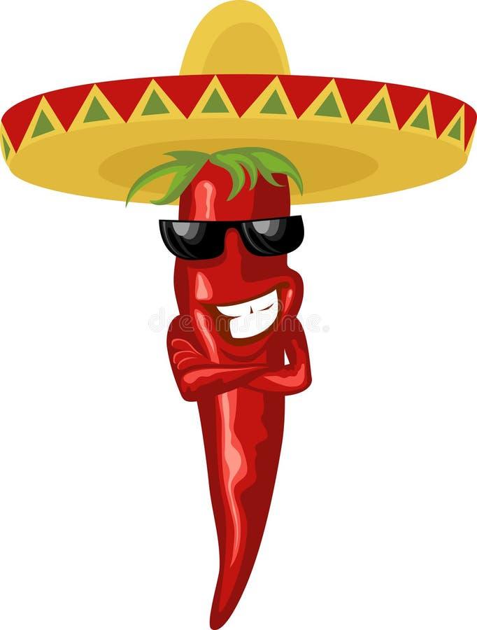 Peperoncino rosso caldo messicano royalty illustrazione gratis