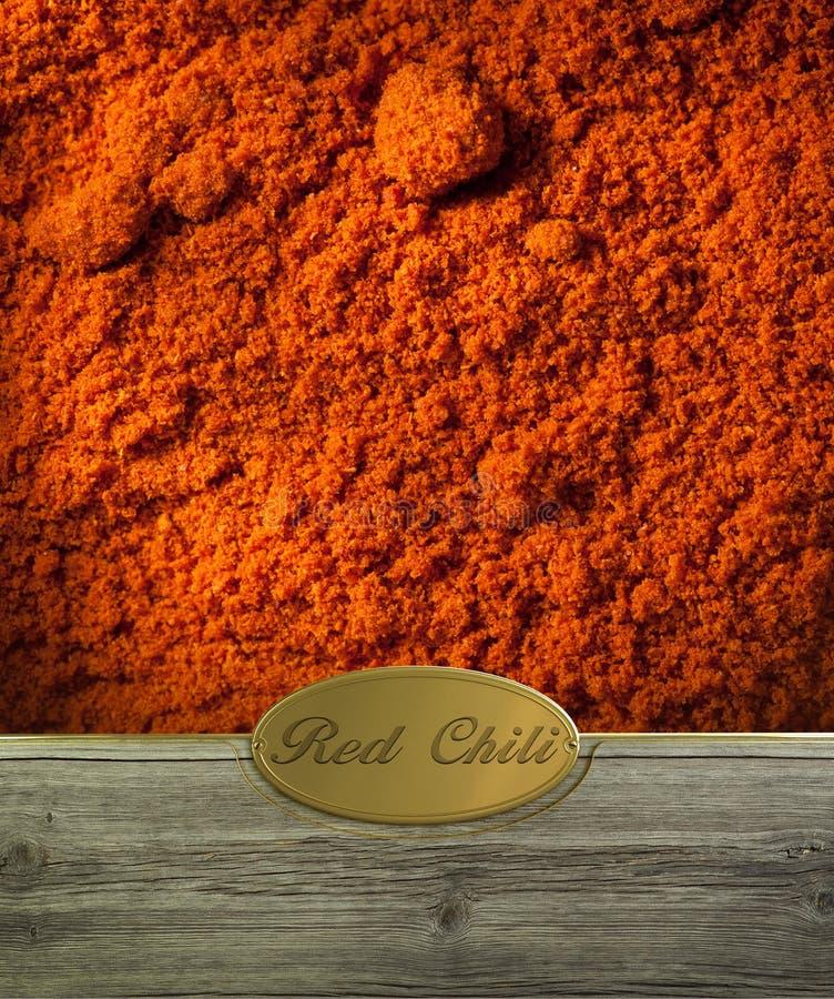 Peperoncino rosso rosso identificato fotografie stock