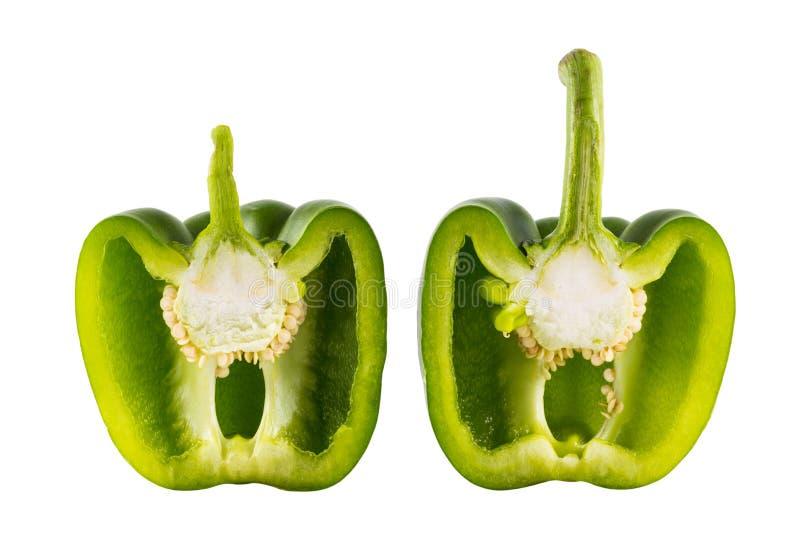 Peperone dolce dolce verde (capsico) immagine stock libera da diritti