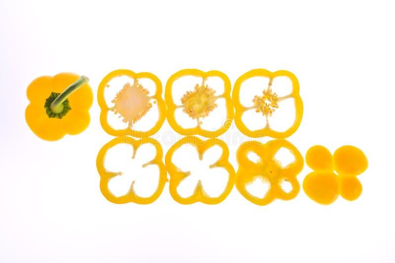 Peperone dolce giallo della fetta immagini stock libere da diritti