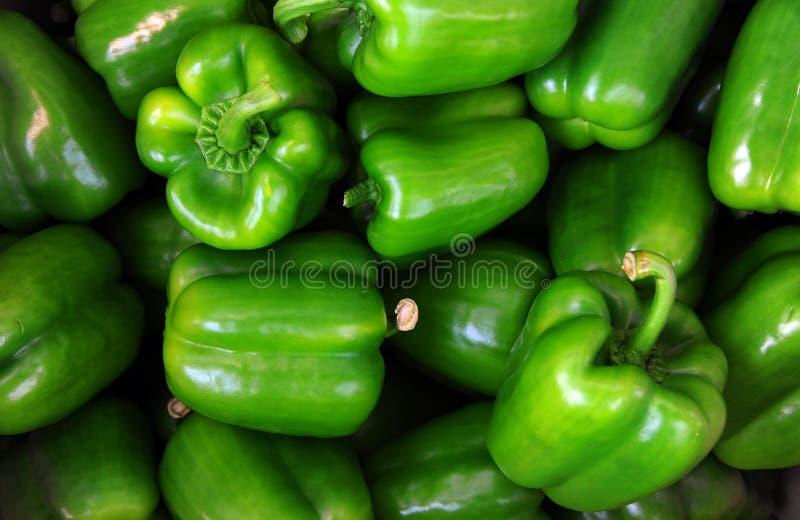Peperone dolce verde, cucinante materia prima fotografia stock libera da diritti