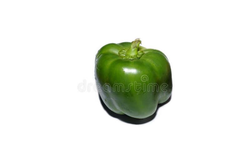 Peperone dolce verde isolato su bianco immagine stock