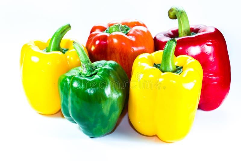 Peperoni, colore rosso, colore giallo, arancio, verde fotografia stock libera da diritti