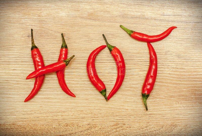Peperoni di peperoncino rosso caldo immagini stock libere da diritti