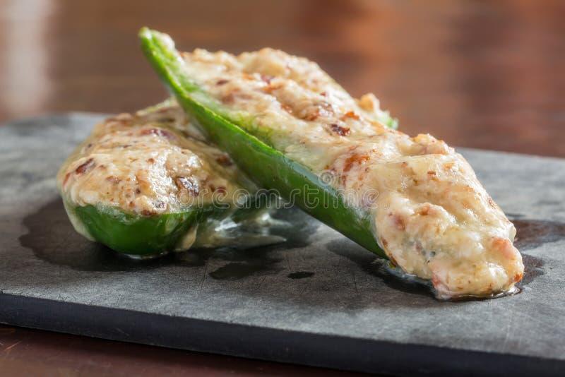 Peperoni farciti del jalapeno fotografia stock