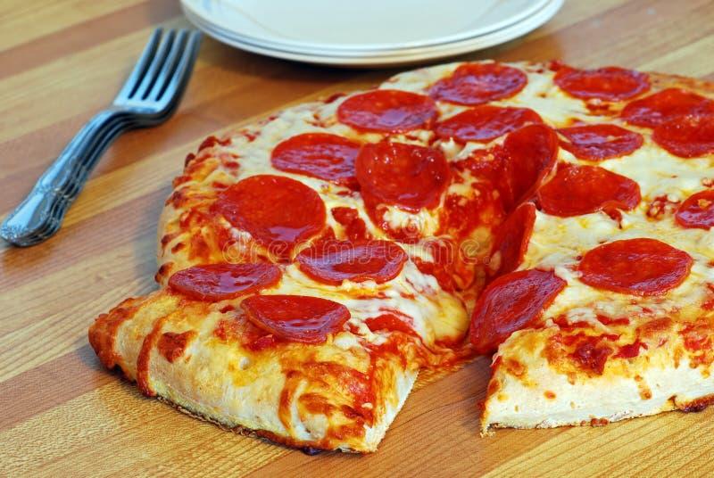 peperonipizza arkivfoto