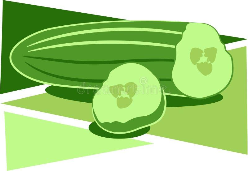 Pepino stock de ilustración