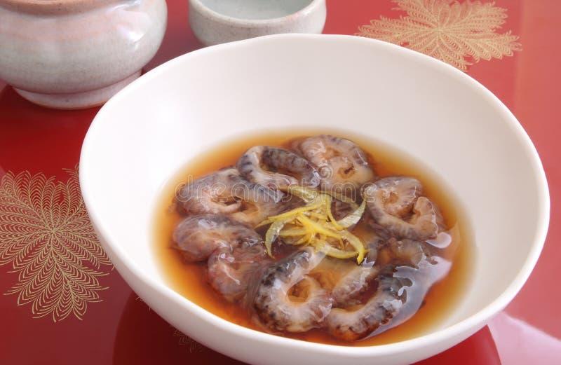 Pepino de mar de Vinegared, alimento japonês fotos de stock royalty free