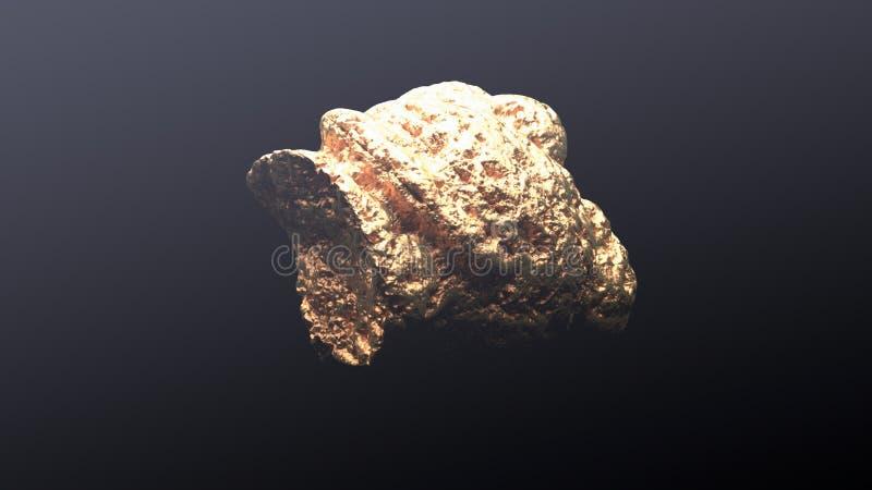 Pepita de oro gigante ilustración del vector
