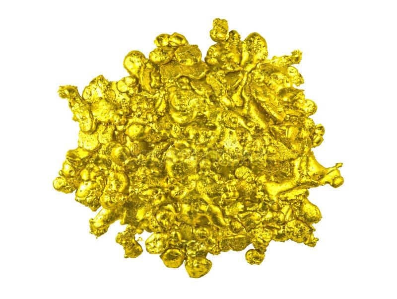 Pepita de oro real imagen de archivo